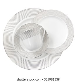 porcelain plate isolated on a white background