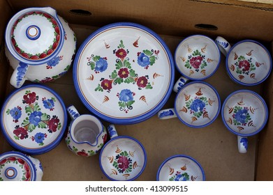 porcelain tableware folk decoration