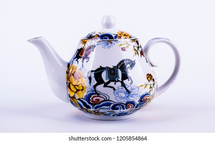 porcelain tea kettle