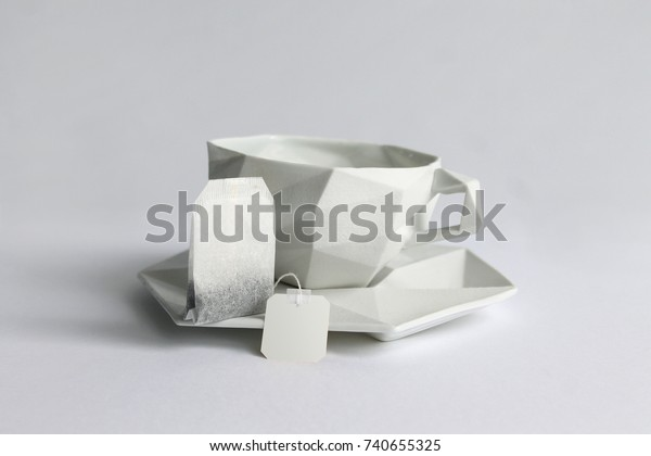 Place Card Holder Set of 3 | 3D Origami Decorative Paper Tea Cup ... | 420x600