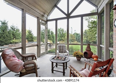 Porch with patio view