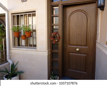 Porch with plants in Spain