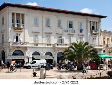Porec,Croatia - August 04, 2014, Hotel Jadran on street Obala marsala Tita, Porec, Croatia