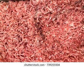 pork beef in the supermarket.