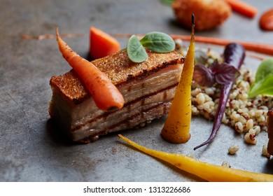 Pork belly with vegetables