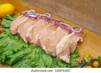 Pork, billets, meat processing plant.