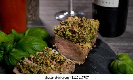 Pork Chop with mustard crust