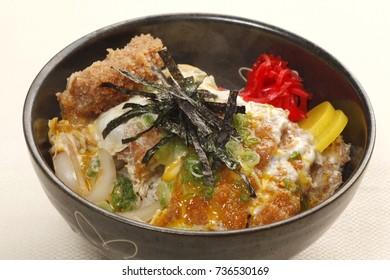 Pork cutlet Bowl Japanese Foods