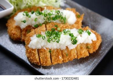 pork cutlet with grated daikon radish