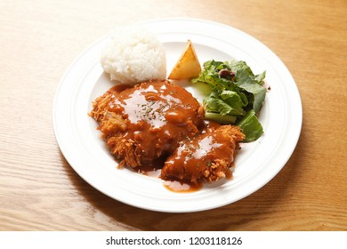 Pork cutlet on a plate