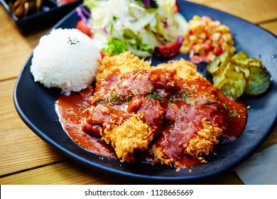 Pork cutlet plate