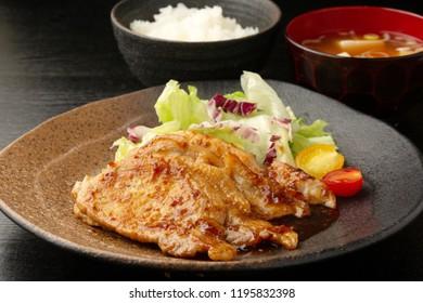 Pork fried with ginger