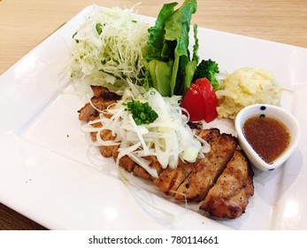 Pork grill salad