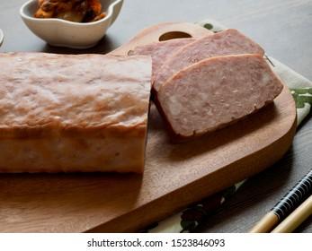 Pork ham, Square ham and Kimchi and pickled radish