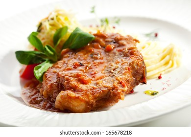 Pork Loin with Mash and Vegetables