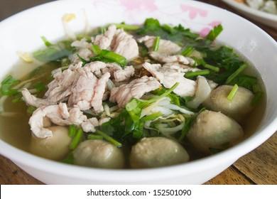 Pork meatball and vegetable soup
