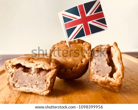 Pork pie with flag