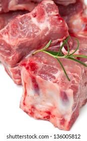 pork ribs over white