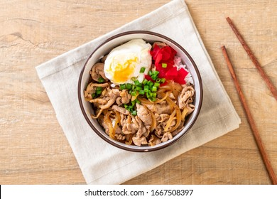 pork rice bowl with egg (Donburi) - japanese food style