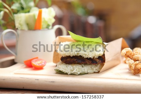 pork rice burger