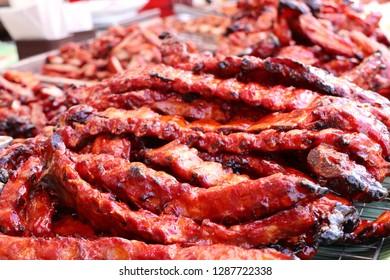 pork roast on street food