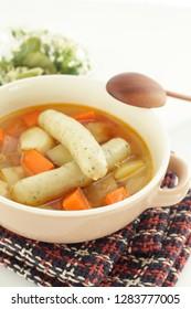 pork sausage and minestrone soup