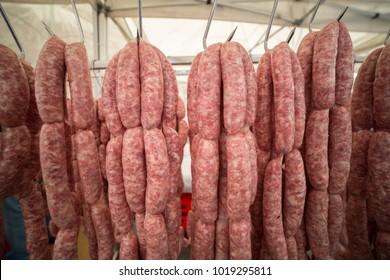 pork sausage and sausage production Italian tilpici products good Italian cuisine
