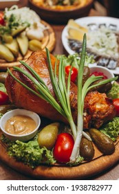 Pork Shank Roasted with Vegetables
