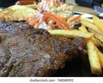 pork steak close up