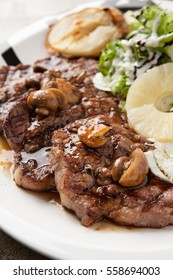 pork steak on plate