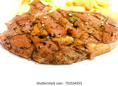 Pork steak on a plate