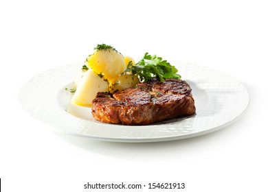 Pork Steak with Potato and Parsley