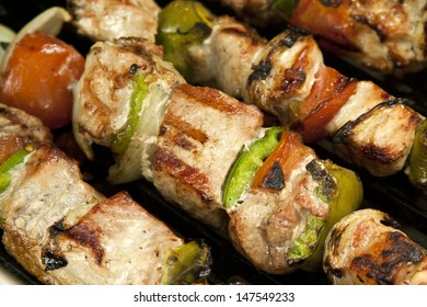 Pork and Vegetable Souvlaki/Kebab