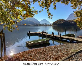 Porlezza, Italy. Lake and boat