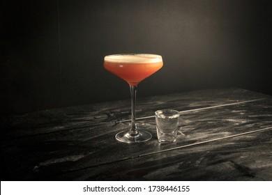 Pornstar Martini in a Professional Backdrop