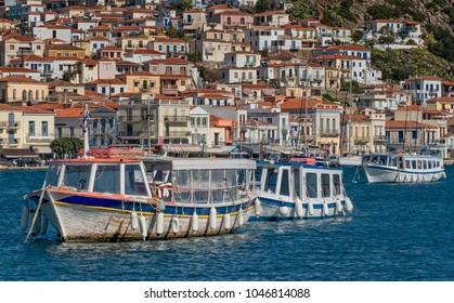 Poros island in Saronic gulf of Greece