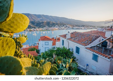 Poros island in a summer day in Greece