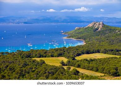 Porquerolles island, mediterranean sea, France