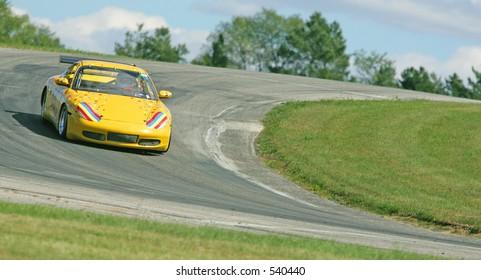 Porsche tight corner