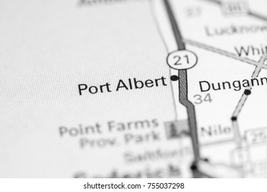 Port Albert. Canada on a map.