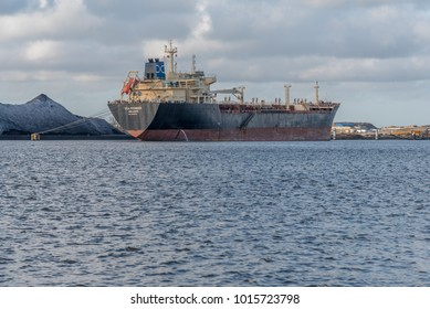 Port of Amsterdam, Noord-Holland/Netherlands -December 30-01-2018- Huge tanker Sea Pioneer has been anchored in the port of Amsterdam, because a creditor has seized the ship.