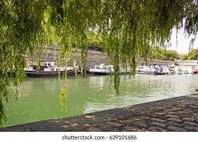 The port of the Arsenal, near the Bastille (Paris France)
