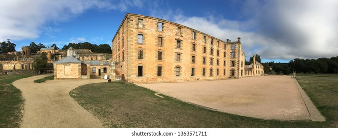 Port Arthur village historic site, a 19th-century penal settlement, located in Tasman Peninsula southern Tasmania, Australia.