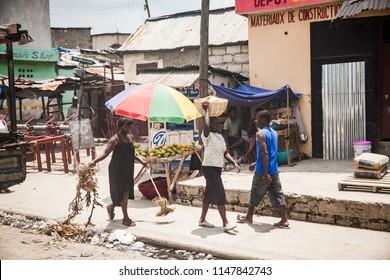 Port au Prince / Haiti - May 28 2015:  City Life in Port-au-Prince