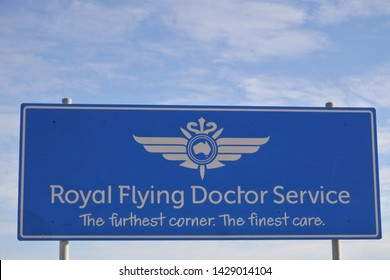PORT AUGUSTA,SA-MAY 17 2019:Royal Flying Doctor Service of Australia.It's medical organization provides emergency and health care services for Australian people in rural and remote areas of Australia.