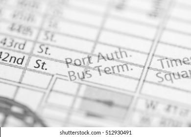 Port Authority Bus Terminal. New York. USA