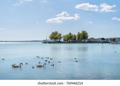 Port of Balatonfured and Lake Balaton, Hungary