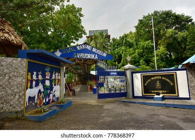 PORT BLAIR, ANDAMANS, INDIA, NOVEMBER 22, 2017: Samudrika Naval Marine Museum run by the Indian Navy. It aims to generate awareness about marine environment and life.
