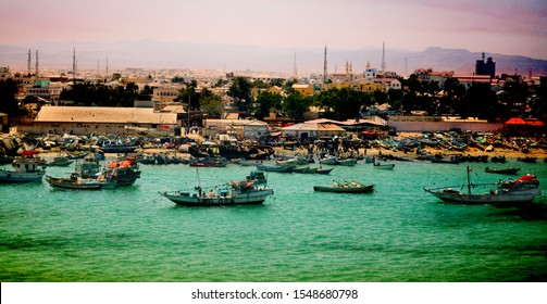 Port of Bossaso Somalia and a fish market