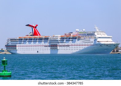 PORT CANAVERAL, USA - MAY 7, 2015: The cruise ship Carnival Sensation landed in Port Canaveral.